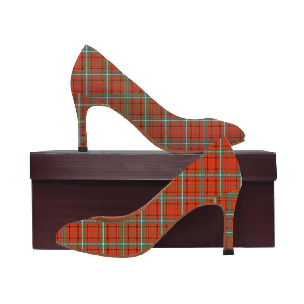 Morrison Red Ancient Tartan Women High Heels
