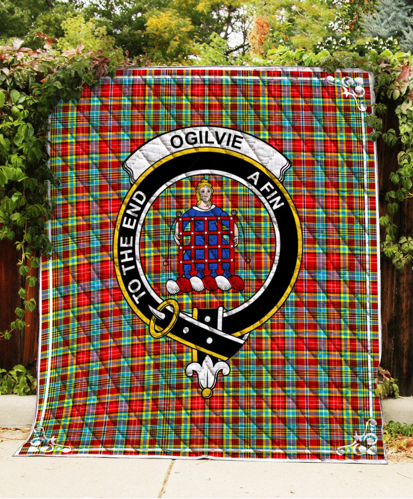 Ogilvie Clan Badge Tartan Blanket
