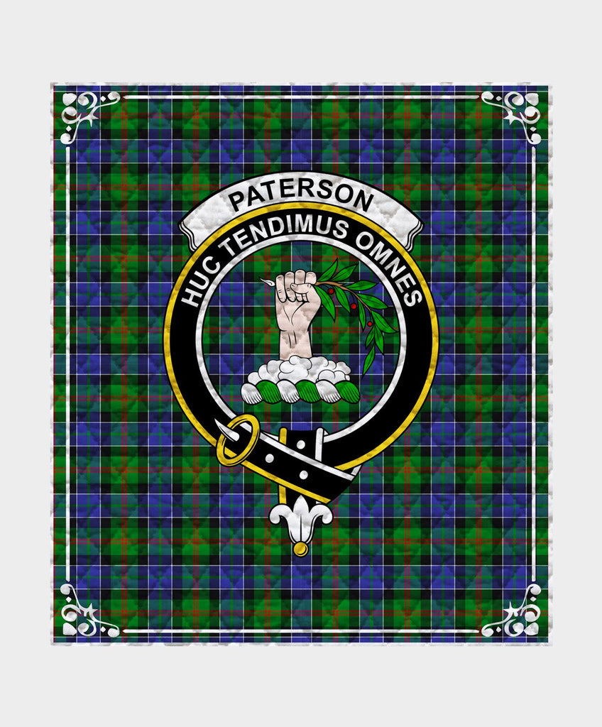 Paterson Clan Badge Tartan Blanket