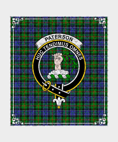 Image of Paterson Clan Badge Tartan Blanket