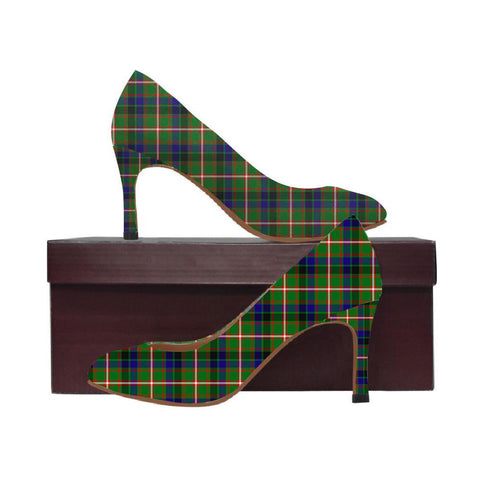 Image of Reid Green Tartan Women High Heels