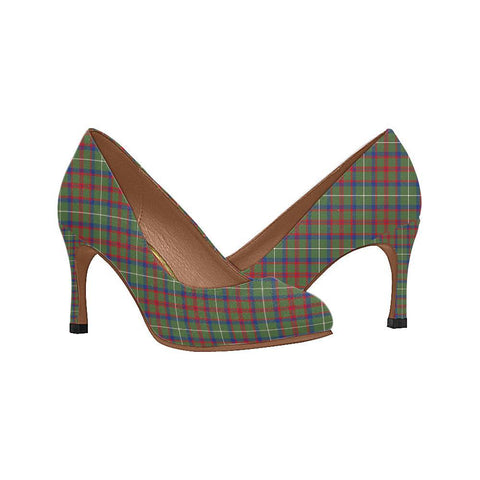 Image of Shaw Green Modern Tartan Women High Heels