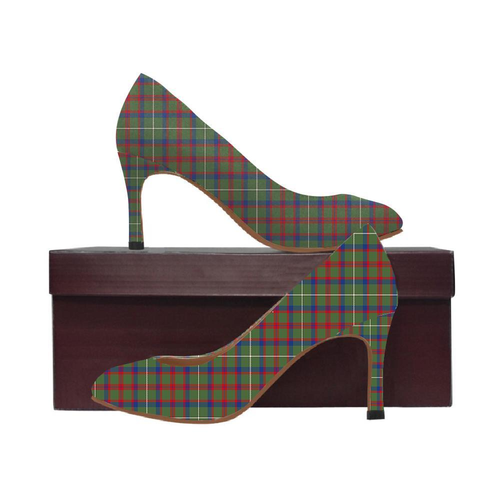 Shaw Green Modern Tartan Women High Heels