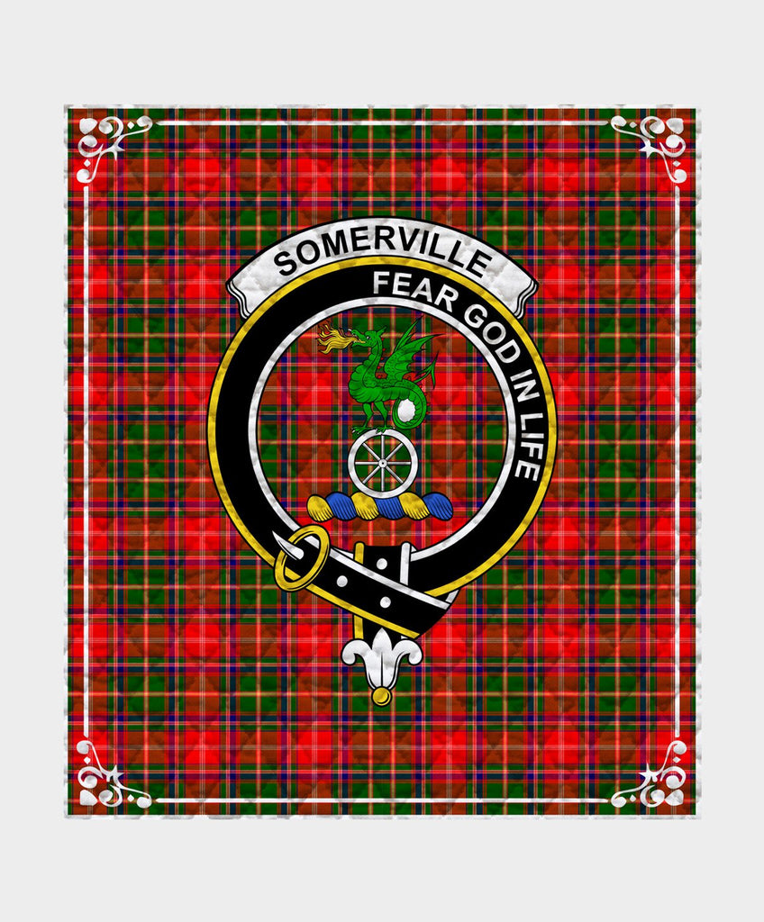 Somerville  Clan Badge Tartan Blanket