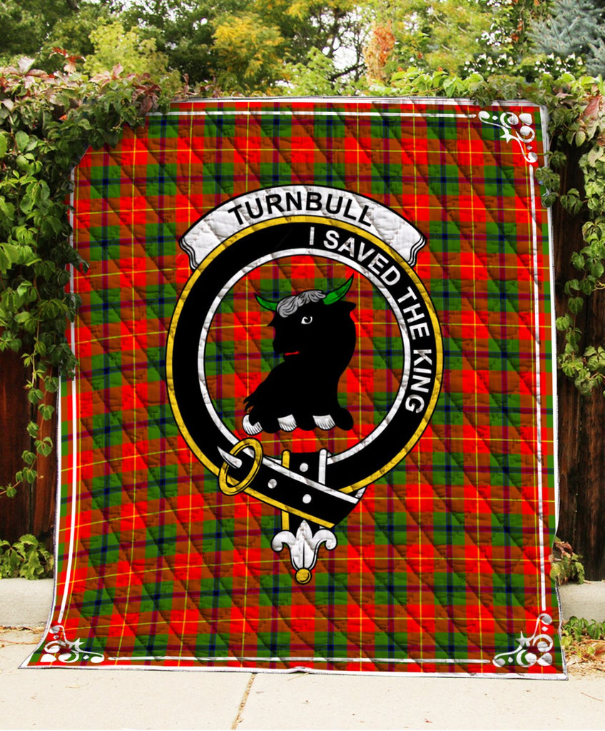 Turnbull  Clan Badge Tartan Blanket