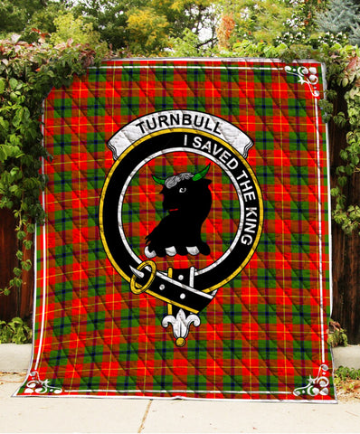 Image of Turnbull  Clan Badge Tartan Blanket
