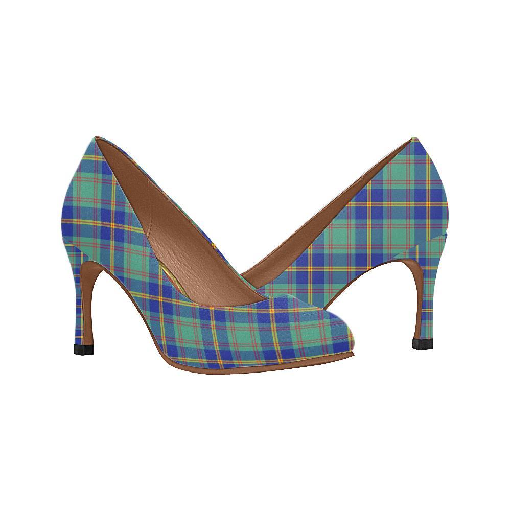 Us Marine Tartan Women High Heels