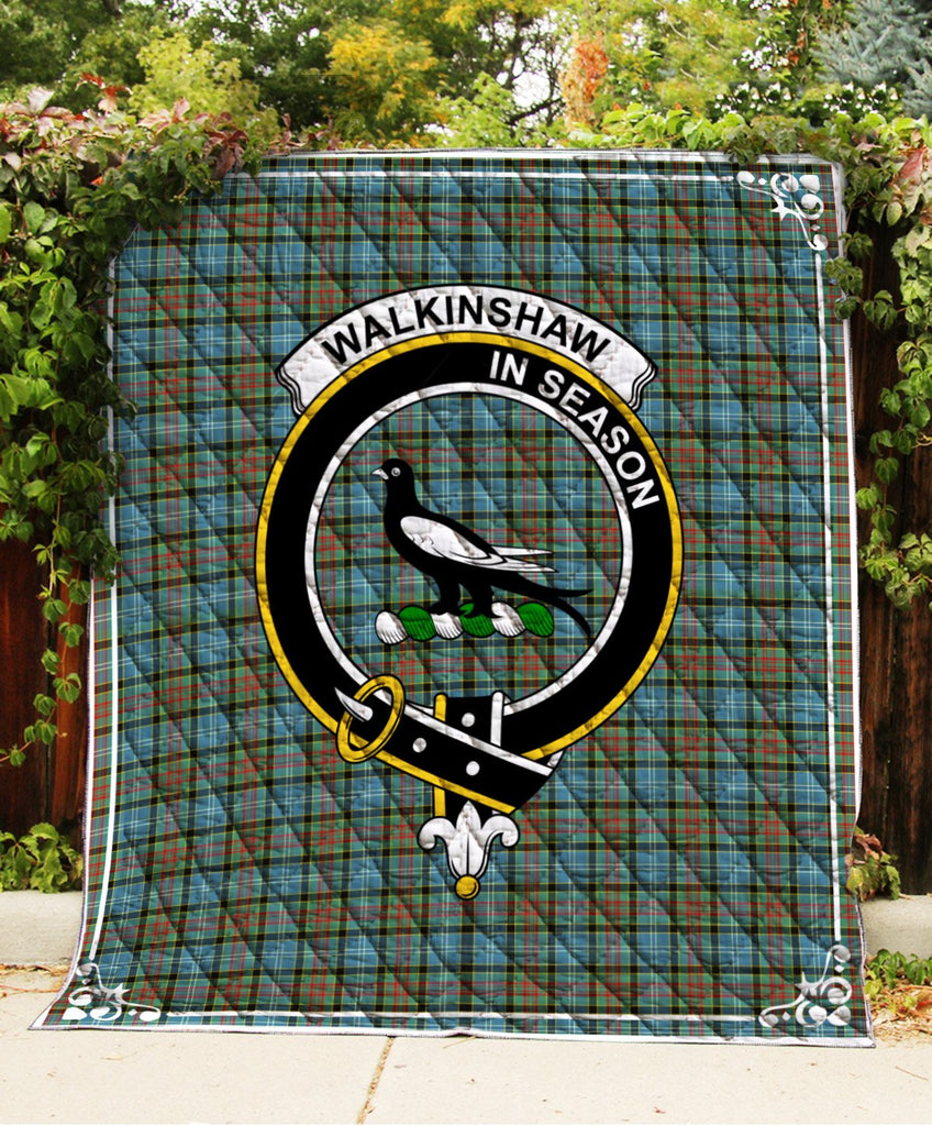 Walkinshaw Clan Badge Tartan Blanket