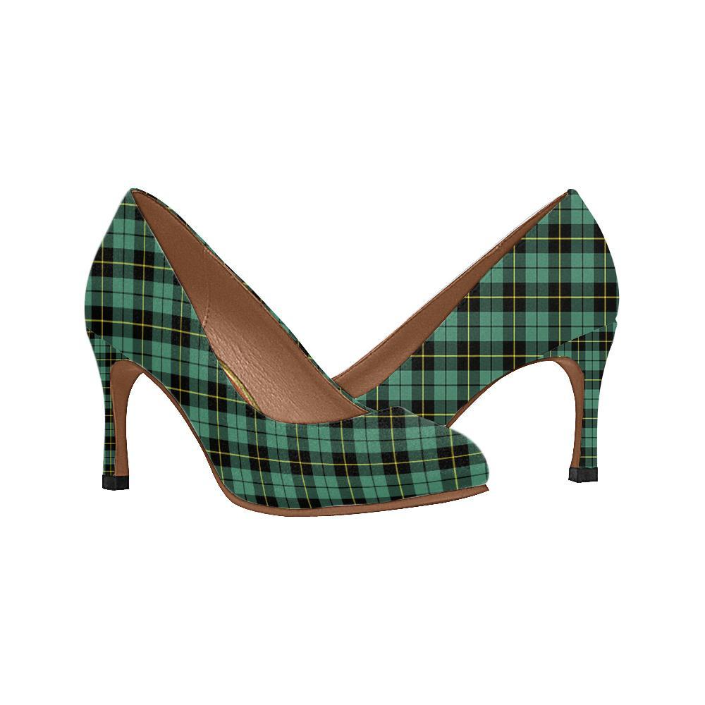 Wallace Hunting - Green Tartan Women High Heels