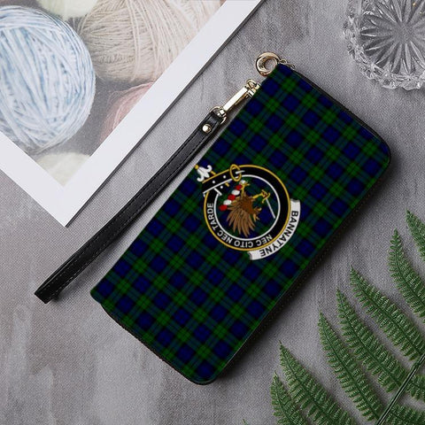 Bannatyne Clan Badge Tartan Zipper Wallet