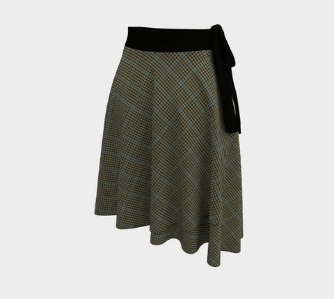 Image of Haig Check Tartan Wrap Skirt