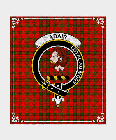 Adair Clan Badge Tartan Blanket
