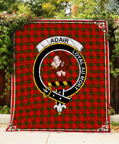 Image of Adair Clan Badge Tartan Blanket