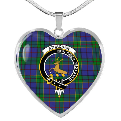 Image of Strachan Clan Badge Tartan Necklace