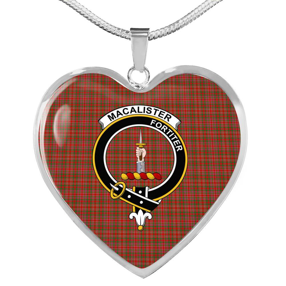 MacAlister Clan Badge Tartan Necklaces