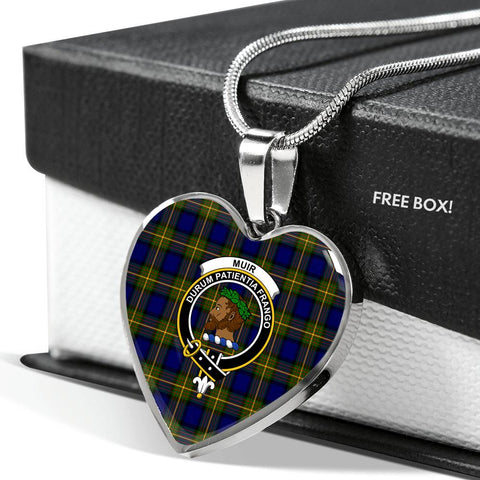Muir Clan Badge Tartan Necklaces H01