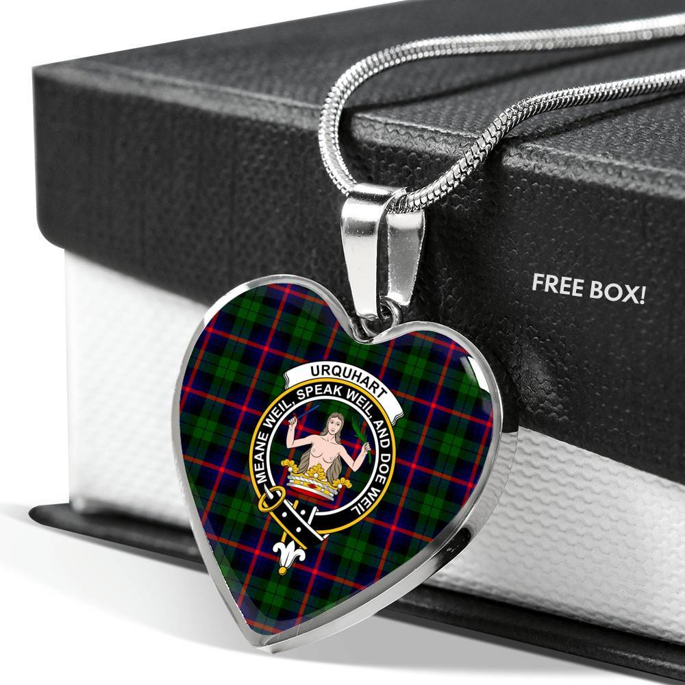 Urquhart  Clan Badge Tartan Necklace