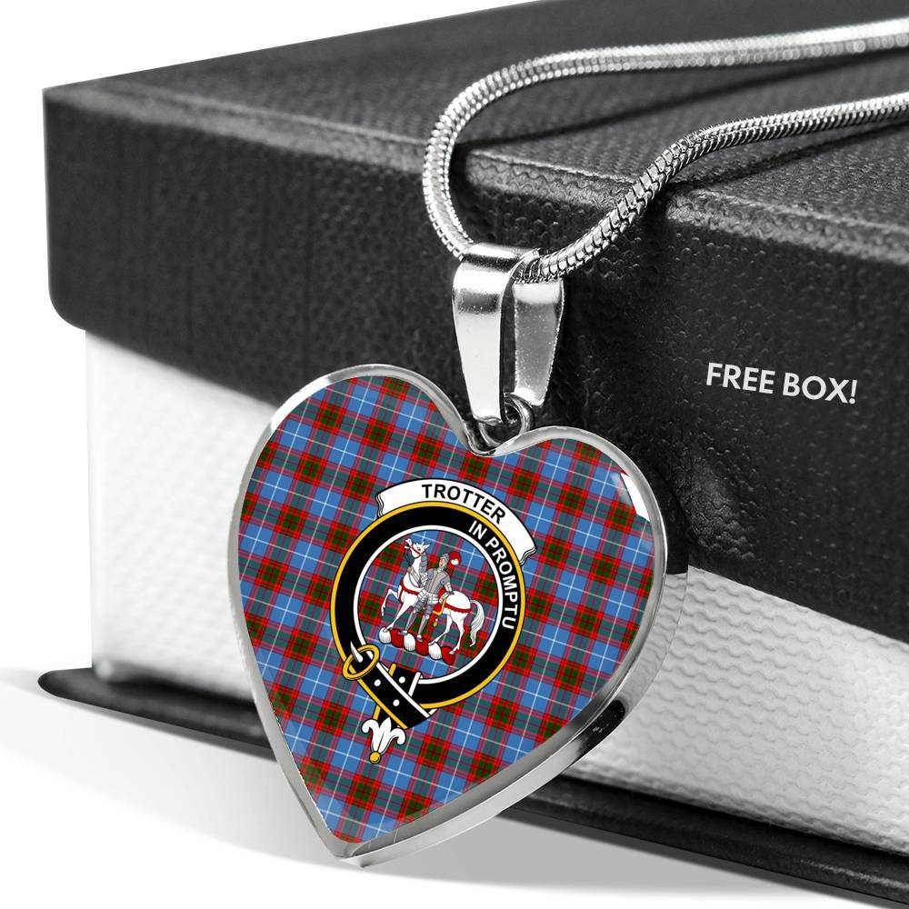 Trotter Clan Badge Tartan Necklace