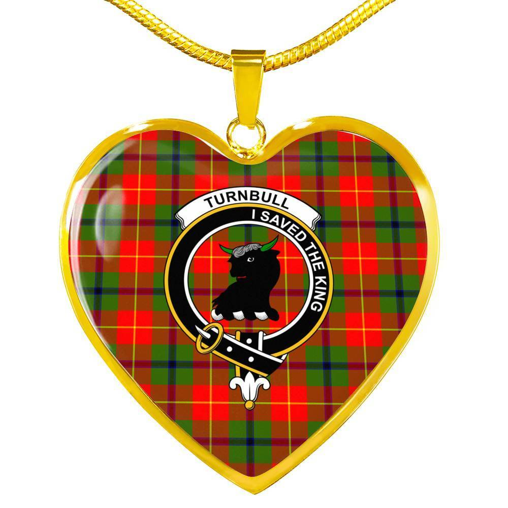 Turnbull  Clan Badge Tartan Necklace