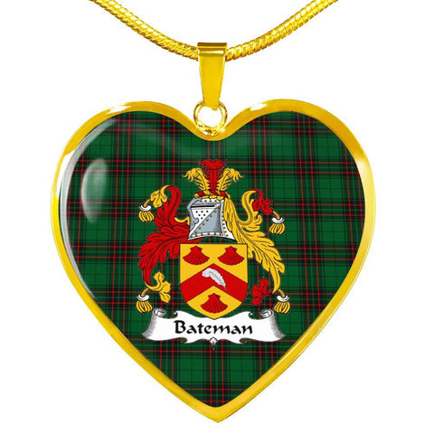 Image of Bateman Clan Badge Tartan Necklaces
