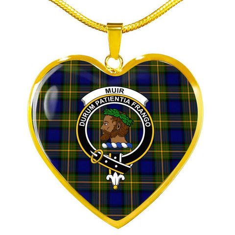 Muir Clan Badge Tartan Necklaces
