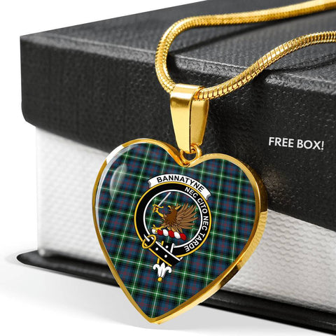 Image of Bannatyn Clan Badge Tartan Necklaces