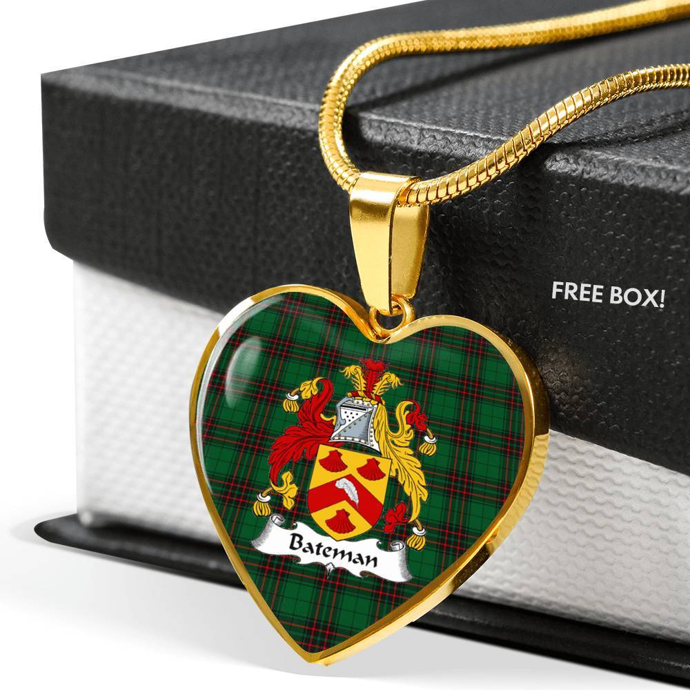 Bateman Clan Badge Tartan Necklaces