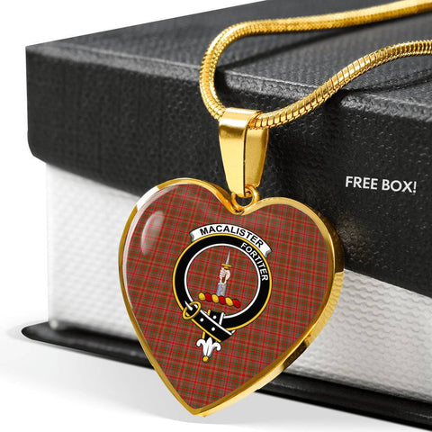 Image of MacAlister Clan Badge Tartan Necklaces