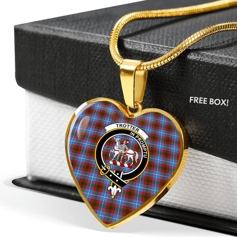 Image of Trotter Clan Badge Tartan Necklace