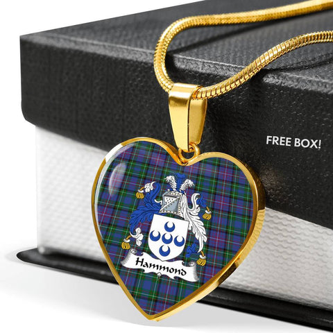 Hammond Clan Badge Tartan Necklaces