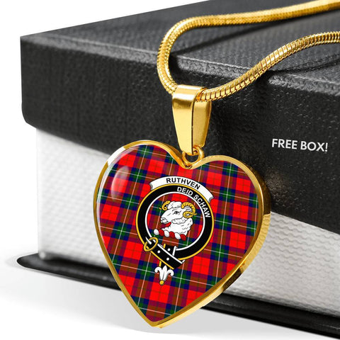Image of Ruthven Modern Clan Badge Tartan Necklaces