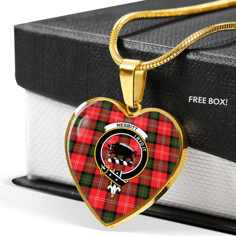 Nesbitt Modern Clan Badge Tartan Necklaces