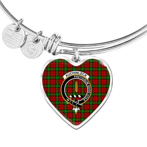 Auchinleck  Clan Badge Tartan Bangle