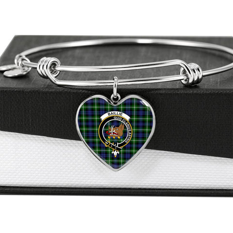 Baillie   Clan Badge Tartan Bangle