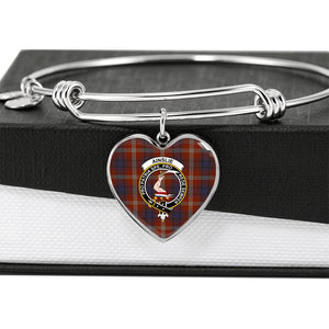 Ainslie  Clan Badge Tartan Bangle