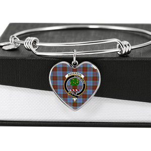 Anderson   Clan Badge Tartan Bangle