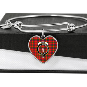 bain  Clan Badge Tartan Bangle