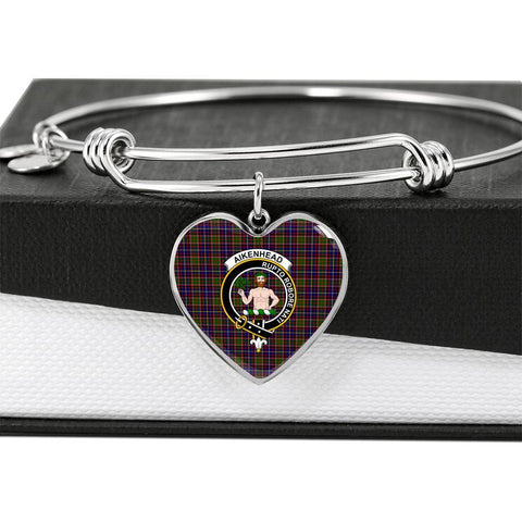 Aikenhead  Clan Badge Tartan Bangle