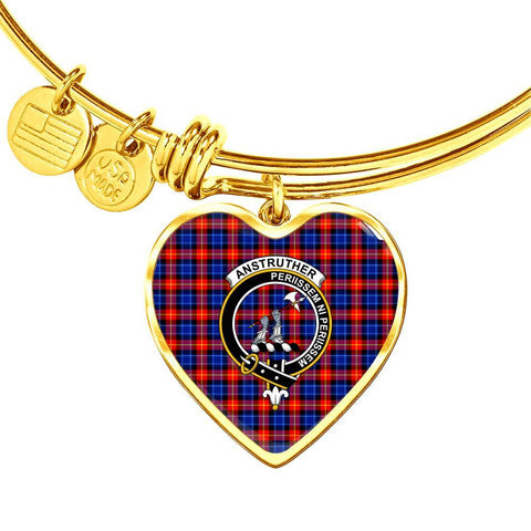 Anstruther  Clan Badge Tartan Bangle