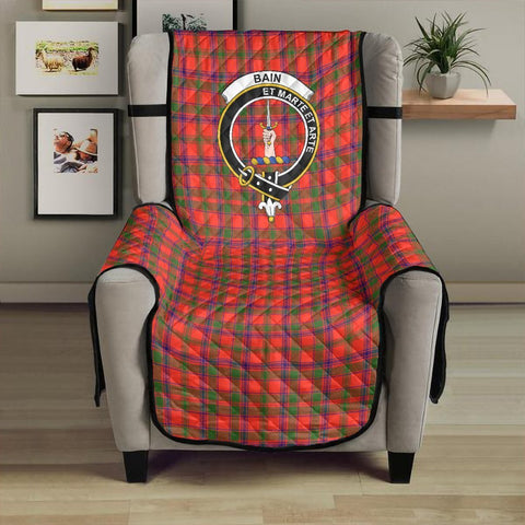 Image of Bain Clan Badge Tartan Sofa Protector