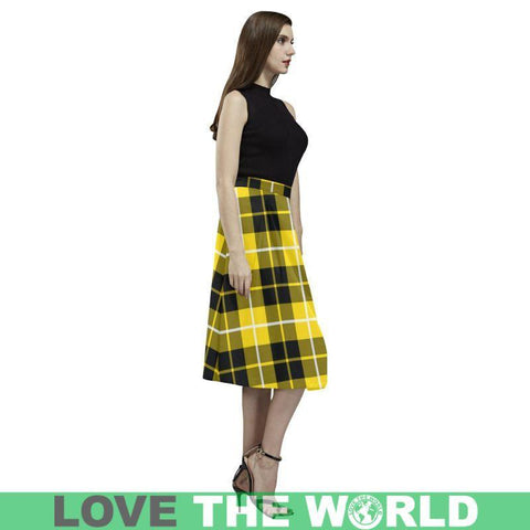 Image of Barclay Dress Modern Tartan Aoede Crepe Skirt