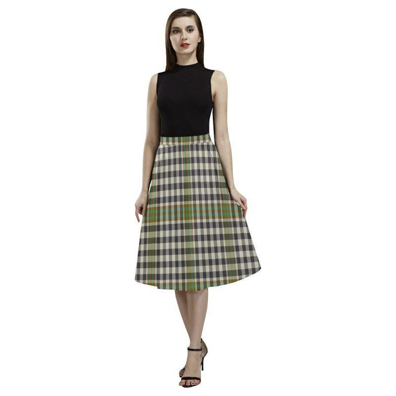 Burns Check Tartan Aoede Crepe Skirt