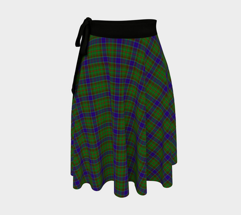 Image of Adam Tartan Wrap Skirt