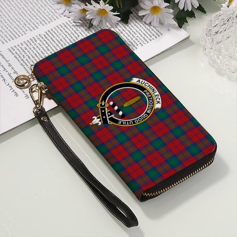 Auchinleck Clan Badge Tartan Zipper Wallet
