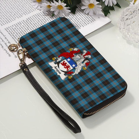 Angus  Clan Badge Tartan Zipper Wallet