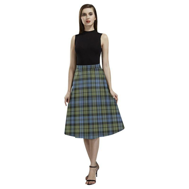 Campbell Faded Tartan Aoede Crepe Skirt