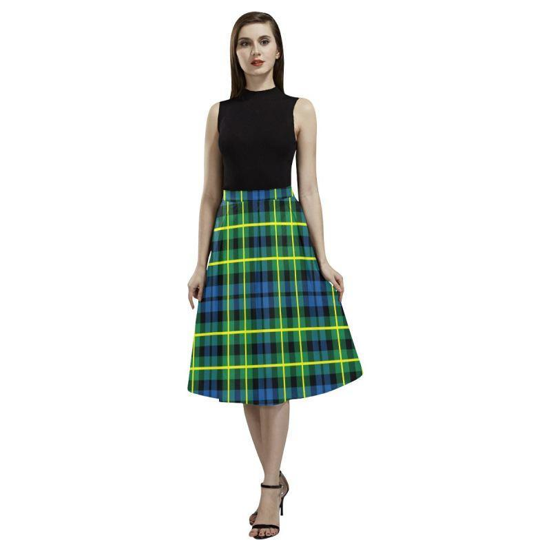 Campbell Of Breadalbane Ancient Tartan Aoede Crepe Skirt