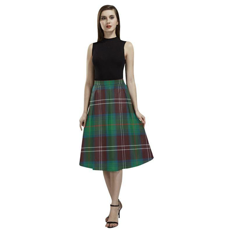 Chisholm Hunting Ancient Tartan Aoede Crepe Skirt