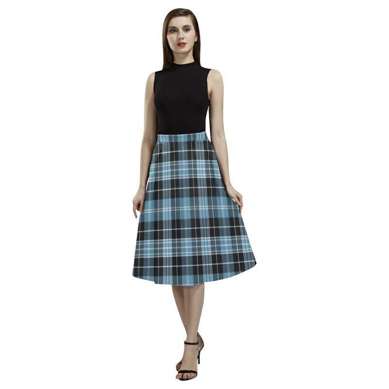 Clark Ancient Tartan Aoede Crepe Skirt