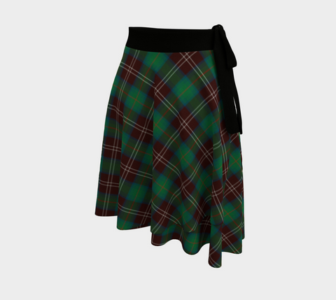 Image of Chisholm Hunting Ancient Tartan Wrap Skirt